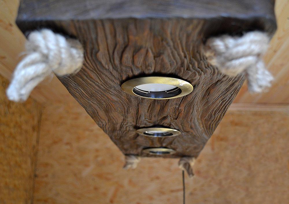 Купить Люстра Лофт из состаренного слэба дерева Украина Киев