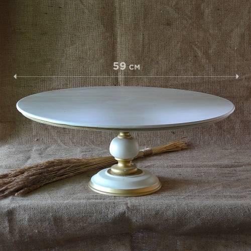 Деревянная подставка для торта 60 сантиметров. Купить Украина