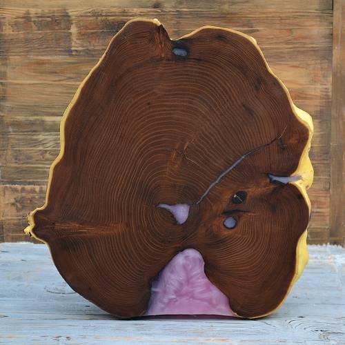 Купить интерьерный срез из дерева оливы Украина