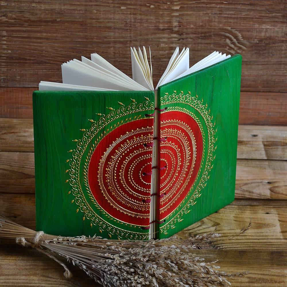 Блокнот ручной работы в деревянной обложке купить Украина Киев