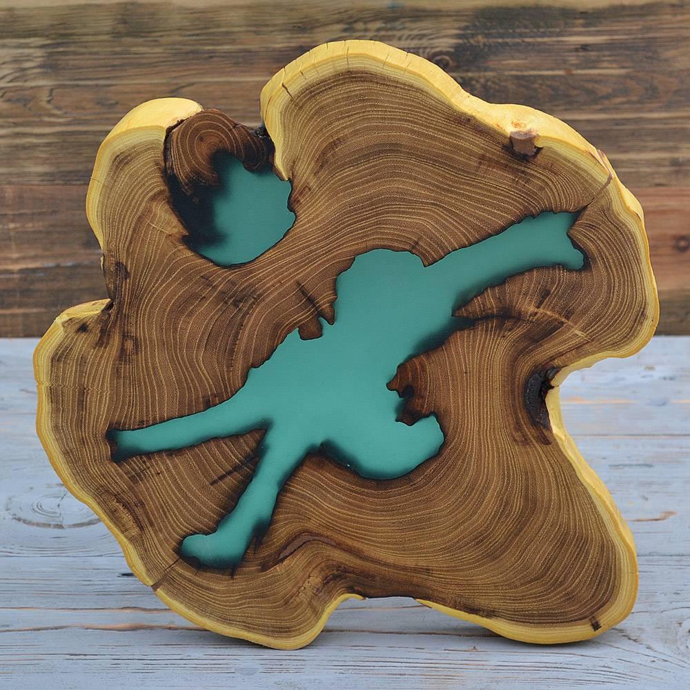 Купить интерьерный срез из дерева акация Украина